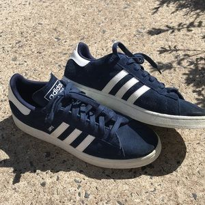 Adidas campus blue suede sneakers